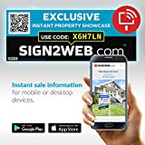 Web Enabled Realtor Exclusive Sign Rider + Website - Laser Printed High Visibility Real Estate Exclusive Sign Rider - Double Sided 24'' Real Estate Agent Sign Rider - Evolved Agent Sign Solution!