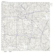 Huntington Park Zip Code Map.Amazon Com Huntington Park Ca Zip Code Map Laminated Home Kitchen