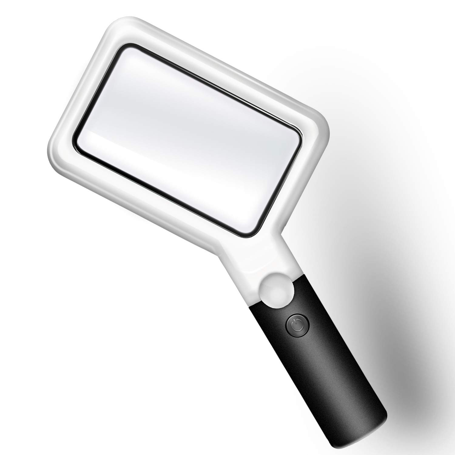 Magnifying Glass with Light, 2X 20X Handheld Magnifying Glass, YCTEC Magnifier with Light, Large Rectangular Magnifying Lens, LED Lighted Magnifying Glass for Reading, Seniors, Low Vision, Hobbyists