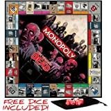 The Walking Dead Monopoly - Survival Edition Board Game with Free Set of Wiz Dice