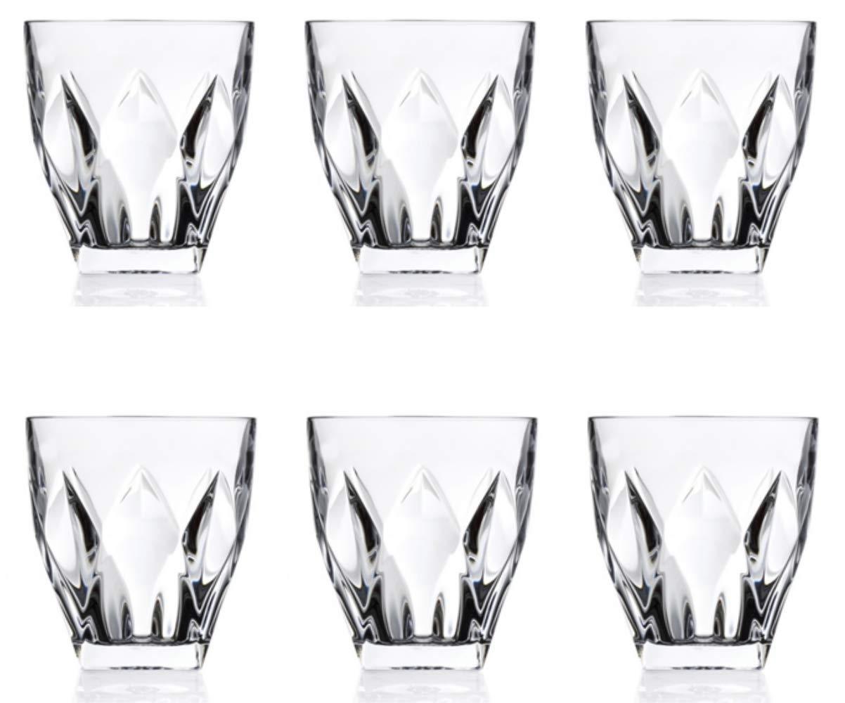 Set of 6 Ninphea Trends Crystal Tumbler Glasses RCR