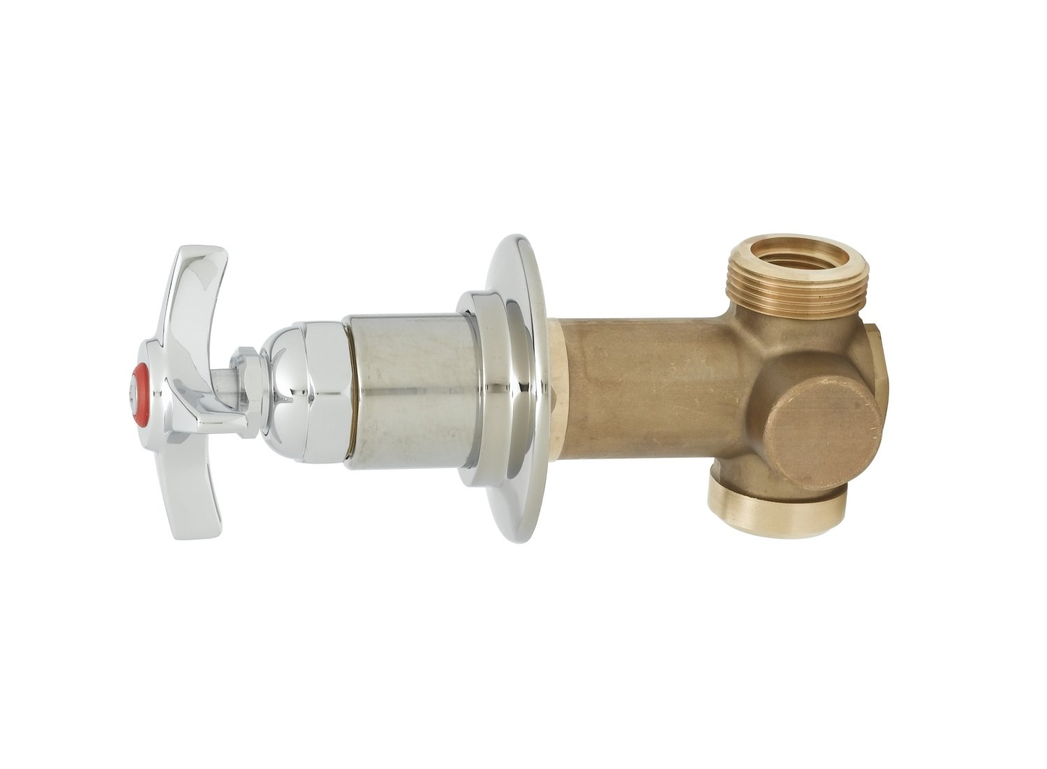 T&S Brass B-1020-1 Concealed Bypass Valve, 1/2-Inch Npt Female Inlet and Outlet, 4-Arm Handle, Hot Index by T&S Brass