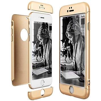 Funda iPhone 7 Plus Bumper 3 en 1 Estructura 360 Grados Integral Case [Ultra-Delgado] [Ligera] Anti-rasguños Carcasa para Cubierta iPhone 7 Plus 5.5 ...