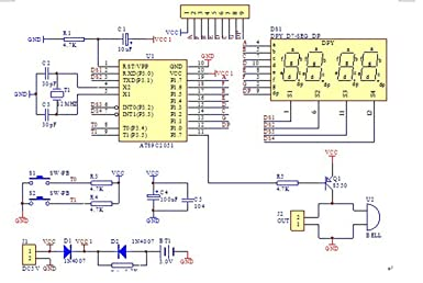 Youmile C51 4 Bits Digital Led Elektronische Uhr Production Suite Diy Kits Set Gewerbe Industrie Wissenschaft