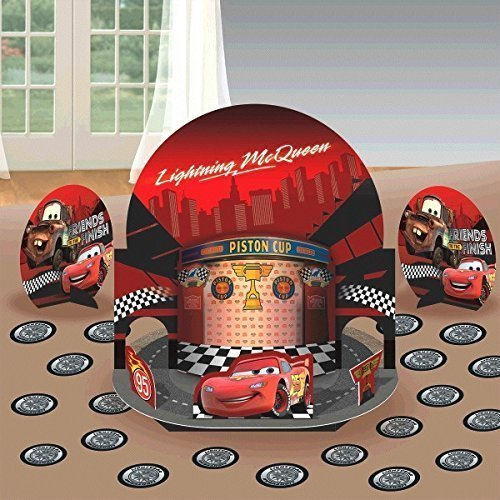 New Disney Cars Party Table Decorations Kit ( Centerpiece Kit ) 23 PCS - Kids Birthday and Party Supplies Decoration (Cars Theme Party Decorations)