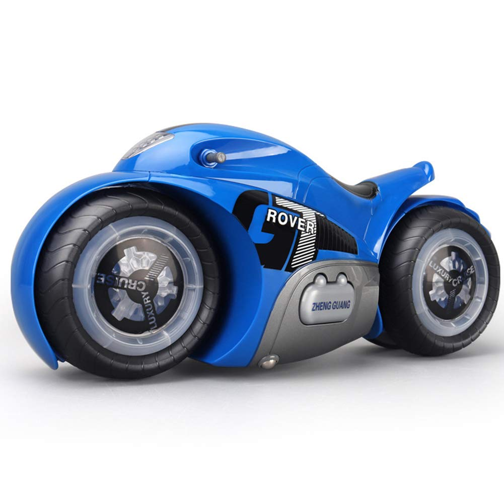 fanmaosdf RC Motorcycle Toy,Fashion High-Speed Drift 360 Degree Rotary 1:12 RC Remote Control Motorcycle Toy Blue