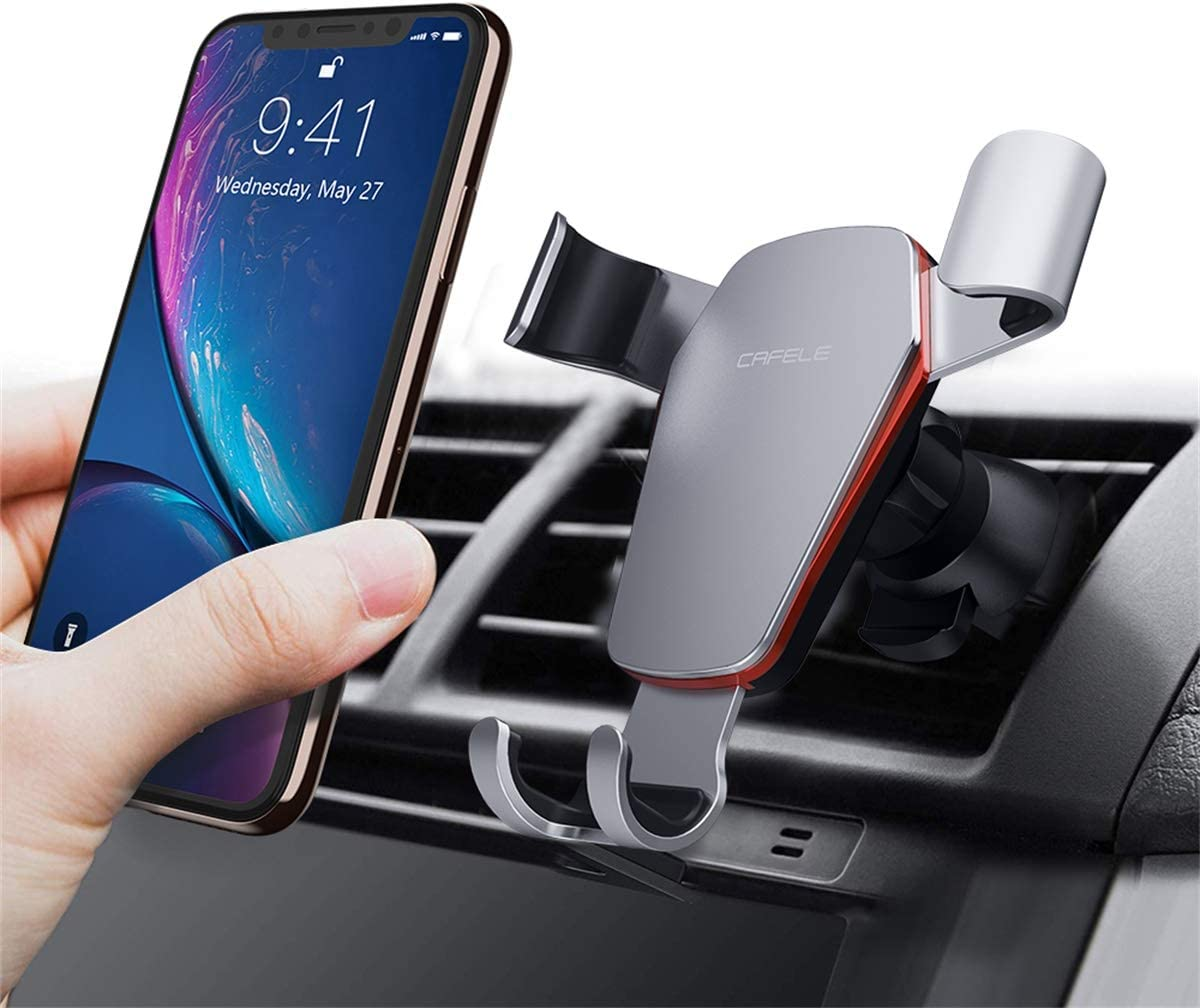 Phone Holder for Car, Car Phone Mount for Cell Phone, Universal Air Vent Phone Holder for Car Mount Cradle Compatible with iPhone, Samsung Galaxy, LG, GPS and Smartphones
