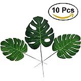 WINOMO Foglie di palma artificiali per la decorazione Foglia finte verde (10pcs)