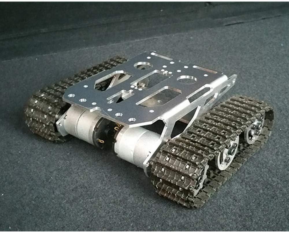 Mnjin Robot programable de Bricolaje Plataforma de Robot rastreada sobre orugas de Tanque para ensamblaje de Robot de Bricolaje Ardunio, chasis Robot Inteligente de Metal de aleación de Alum