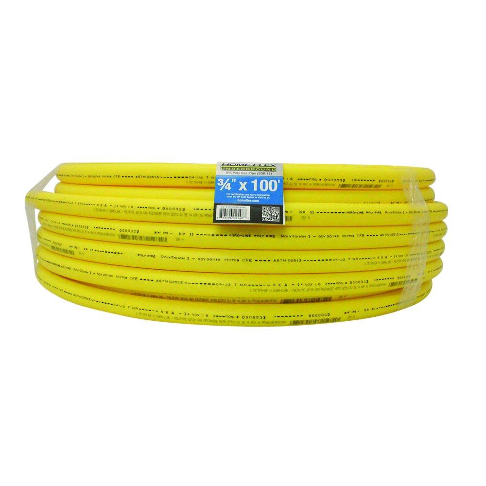 Underground 100 ft. Yellow Polyethylene Gas Pipe (3/4)