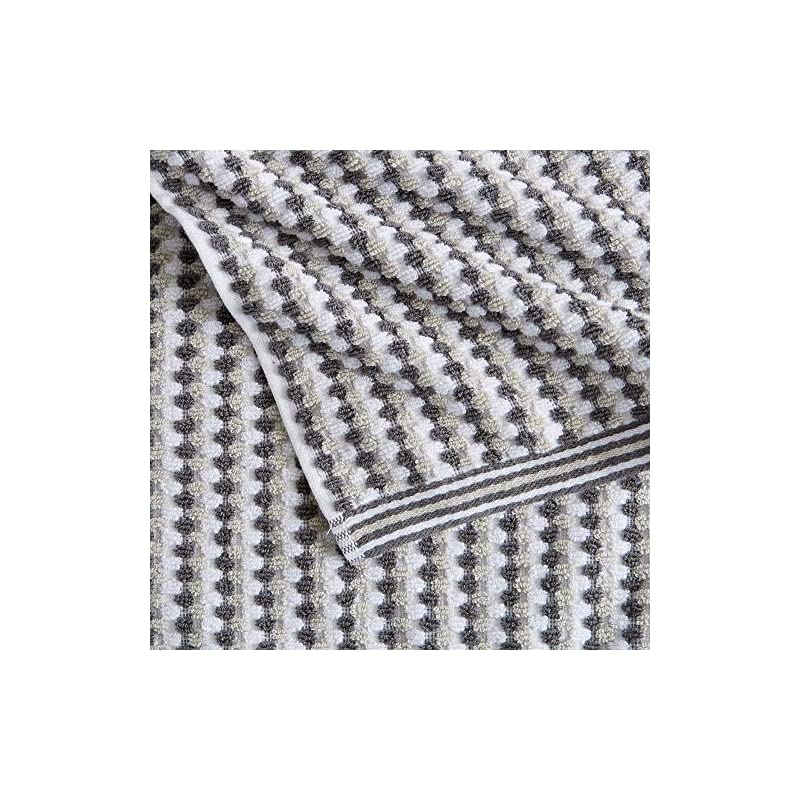 6-Piece Towel Set. 100% Cotton Multi-Striped Bathroom Towels. Quick Dry and Absorbent Towels. Set Includes 2 Bath, 2…