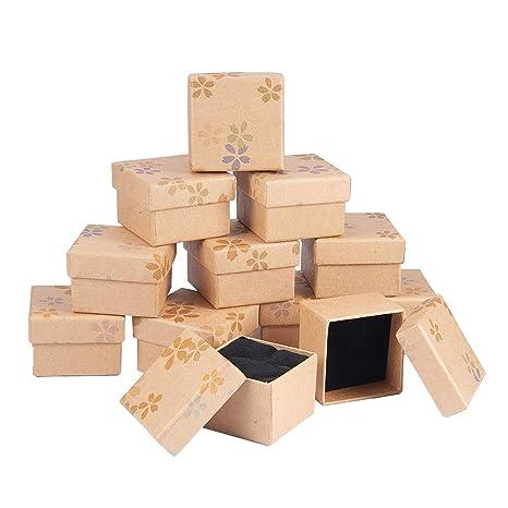 BENECREAT - Paquete de 12 Paquetes de Caja de Regalo con Espuma e Inserto de Terciopelo