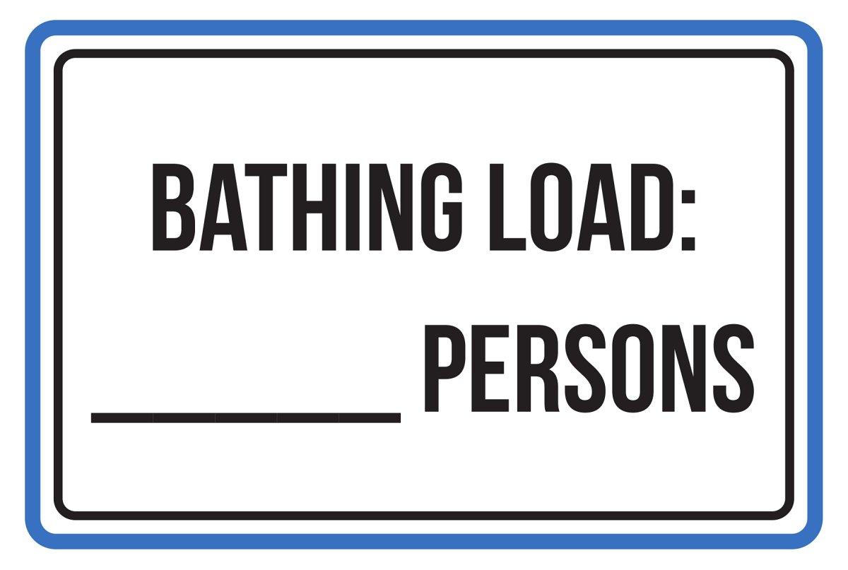 Señal de advertencia para baño, tamaño grande, 12 x 18 cm ...
