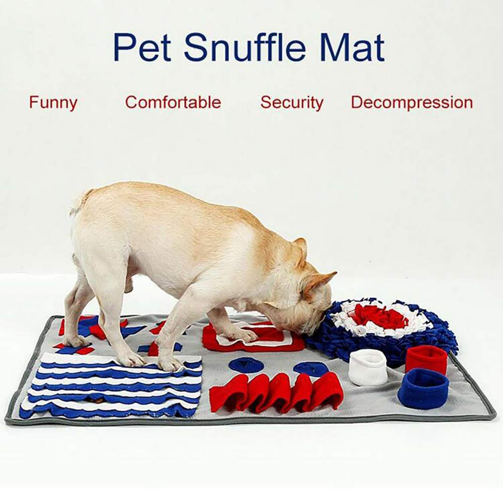 FXQIN Anti-Slip Snuffle Feeding Mat for Dogs - Large Nosework Blanket Dog Puzzle Toys for Indoor/Outdoor Activity - Color : Grey,Blue,Gray