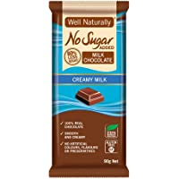 Well Naturally No Sugar Added Creamy Milk Chocolate Bar 90 g