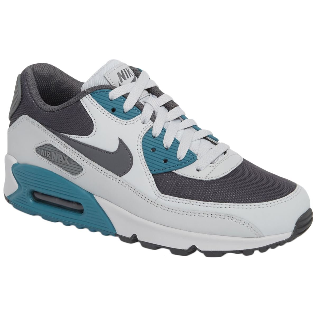 NIKE AIR MAX 90 Essential Running Shoes Noise Aqua Gray 537384 086 Men's NEW