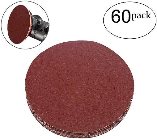 YXQ 800Grit Sanding Discs 5 inch 8 Hole Hook and Loop Sandpaper Pad Drill 60Pcs
