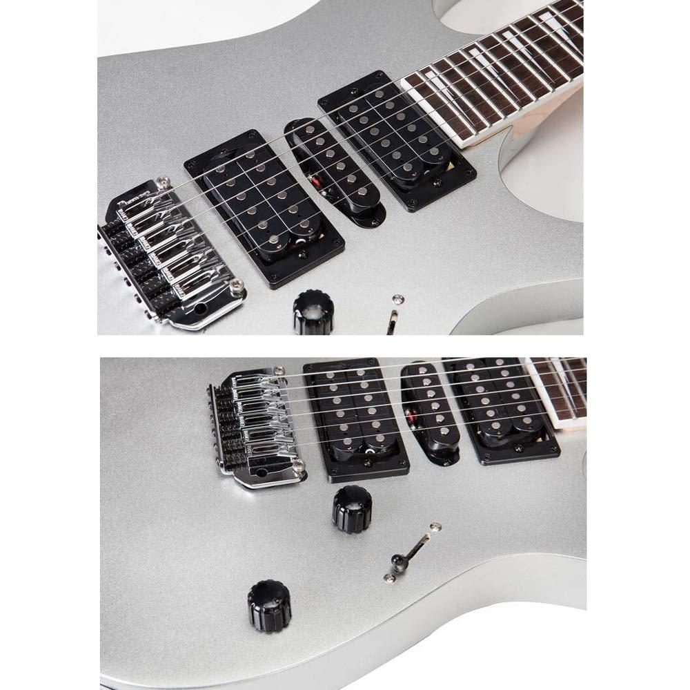 Miiliedy Juego de guitarra eléctrica clásica GRG170DX Práctica para ...