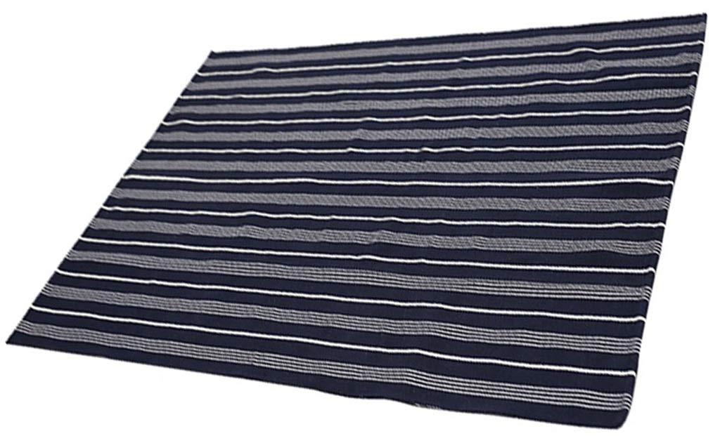 LYHone-Carpet Alfombra De Cocina Alfombra De Cocina Sala De Estar Puerta De Entrada Rayas Azules Estilo NóRdico