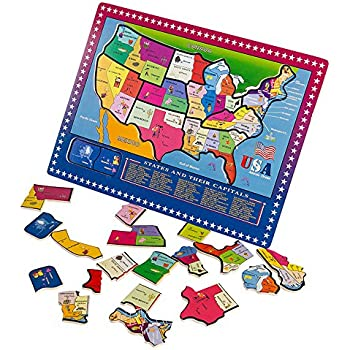 Amazoncom The Learning Journey Lift Learn USA Map Puzzle Toys - Us map puzzle for toddlers