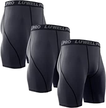 LUWELL PRO 3 Piezas Mallas Hombre de Secado Rápido para Pantalon ...