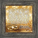 Elegantly Yours Bands of Gold, 50th Wedding Anniversary Gift Picture Frame, 10x10 8608BW