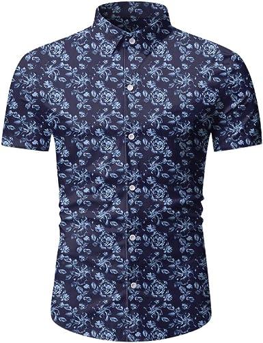 Sylar Camisa Hawaiana para Hombre Verano Casual Slim fit Camisetas Manga Corta Flores Estampado Blusa de Playa Tops Vacaciones T-Shirt Tops M/L/XL/ XXL/XXXL: Amazon.es: Ropa y accesorios