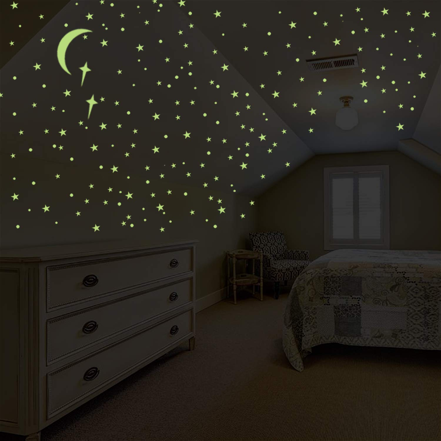 Parlaim Glow In The Dark Stars For Ceiling Wall Stickers For Bedroom Living Room Wall Decals For Kids Boys And Girls 008