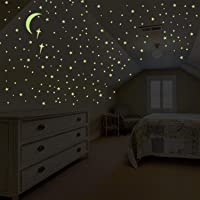 Glow in The Dark Stars for Ceiling Wall Stickers for Bedroom Living Room, Wall Decals...