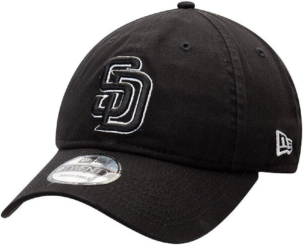 New Era San Diego Padres Black Replica Core Classic Twill 9TWENTY Adjustable Hat Cap