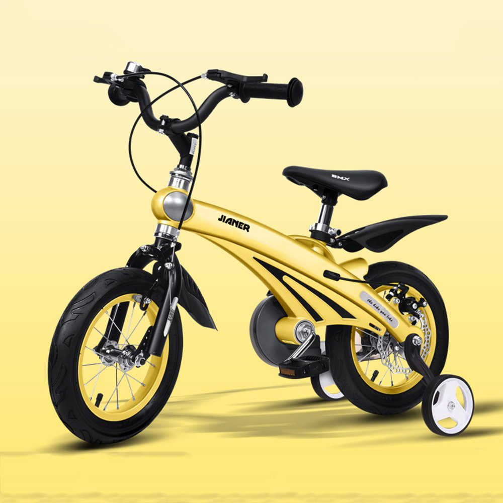 HAIZHEN マウンテンバイク 子供用自転車211歳の子供に適したマグネシウム合金のボディーバイク 12/14/16インチの三輪車 新生児 B07C6QGVHQ 16Inch|イエロー いえろ゜ イエロー いえろ゜ 16Inch