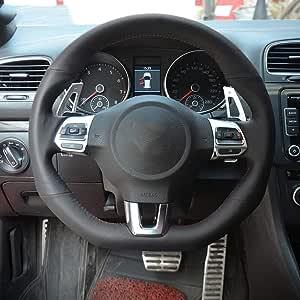 FANGPAN Cubierta de Cuero para Volante, para Volkswagen Golf 6 GTI ...