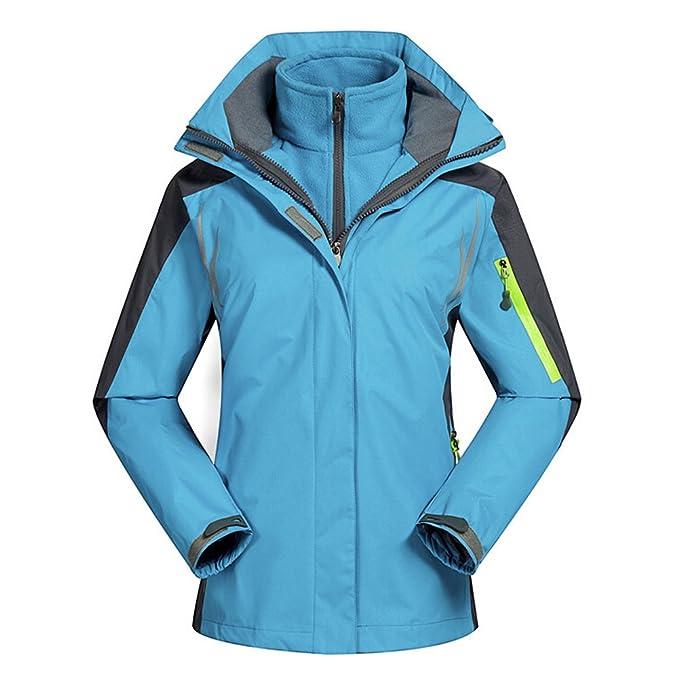 TOOGOO(R)) Mujeres Snowboard Chaqueta Cortavientos para 2 Capas Senderismo Ropa Impermeable Traje de esquí Deporte Coat Ropa Chaquetas Cielo Azul/XL: ...