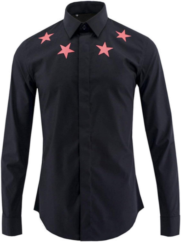 Camisa roja de Cinco Estrellas de Manga Larga para Hombres ...