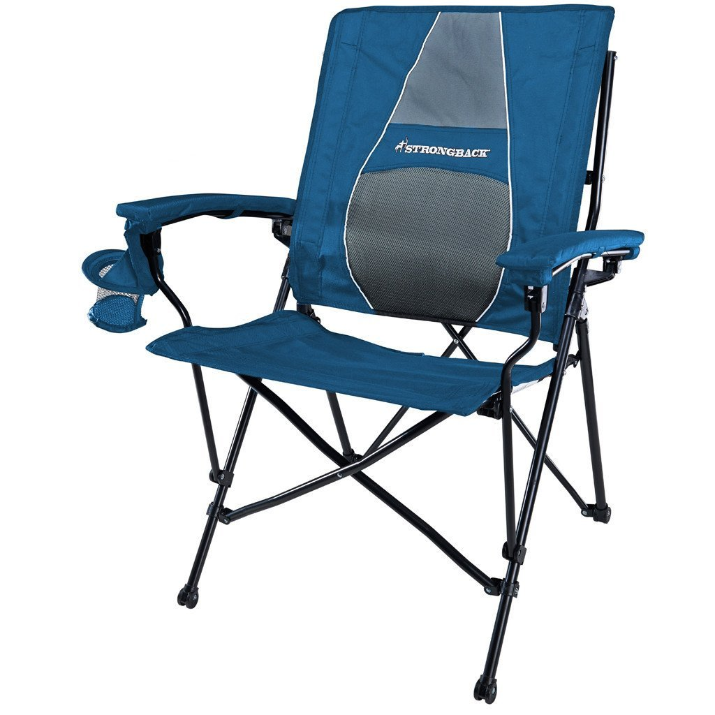 2. STRONGBACK Elite Folding Camping Chair with Lumbar Support