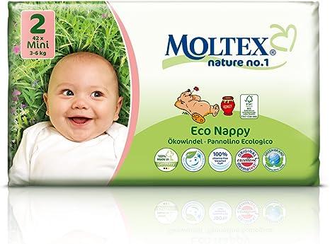 caja de cartón - 126 unidades MOLTEX Nature No1 pañales ecológicos ...