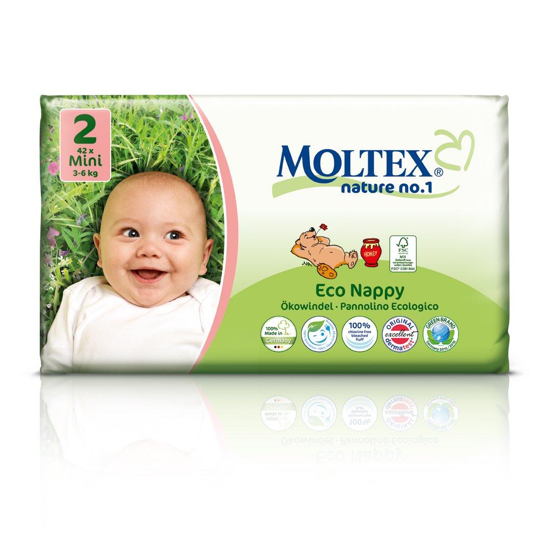 Moltex Nature 7-18 kg Taille 4  - Sachet De 30 Couches