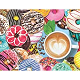 Springbok Puzzles - Donuts N' Coffee - 500 Piece Jigsaw Puzzle - Large 18 Inches by 23.5 Inches Puzzle - Made in USA - Unique Cut Interlocking Pieces
