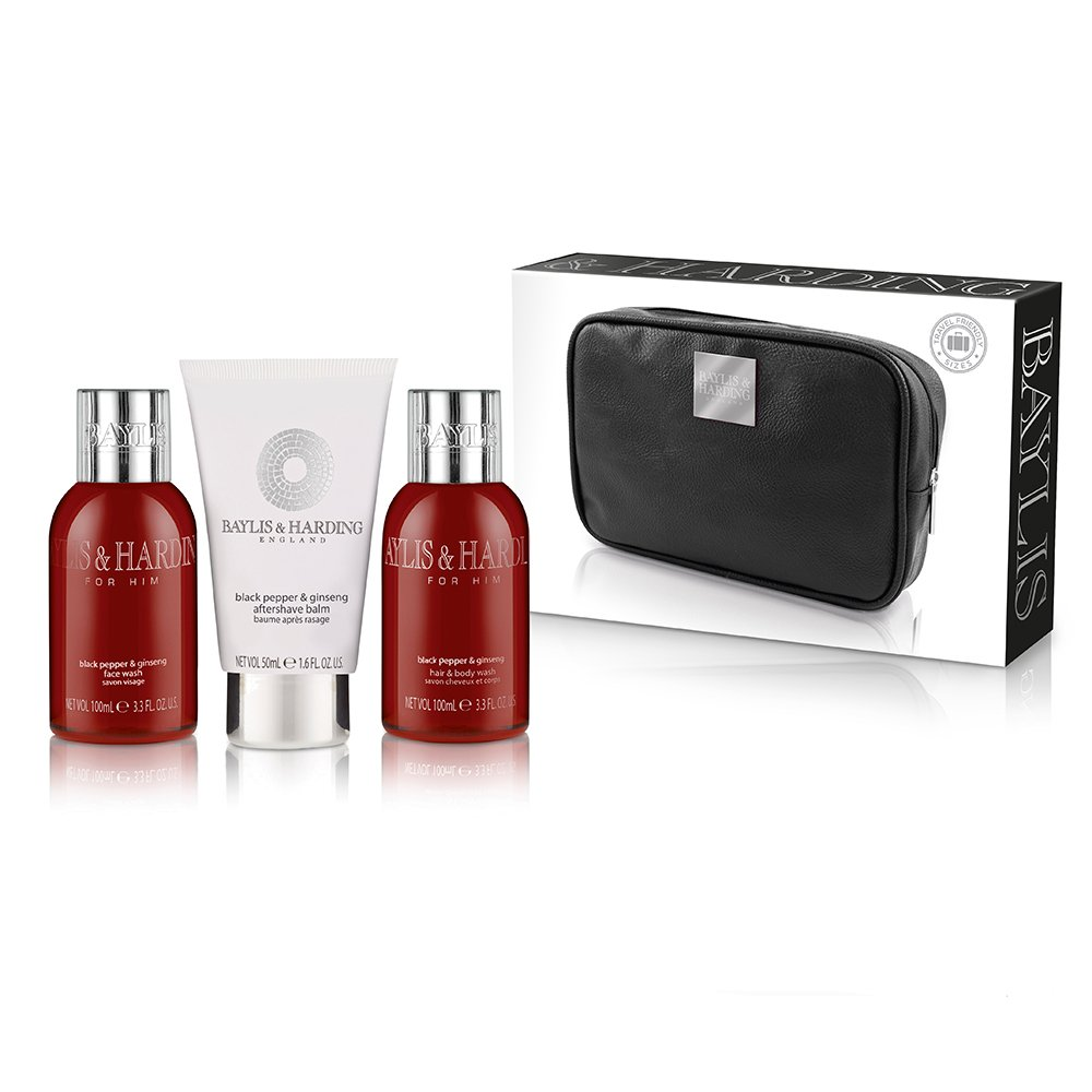 8ff14a25d6 Baylis   Harding Black Pepper and Ginseng Travel Set  Amazon.co.uk  Beauty