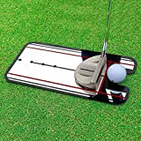 Sumger Golf Putting Mirror Alignment Training Aid Swing Trainer Eye Line Golf Practice Putting Mirror Large Golf Accessories 31cm x 14.5cm