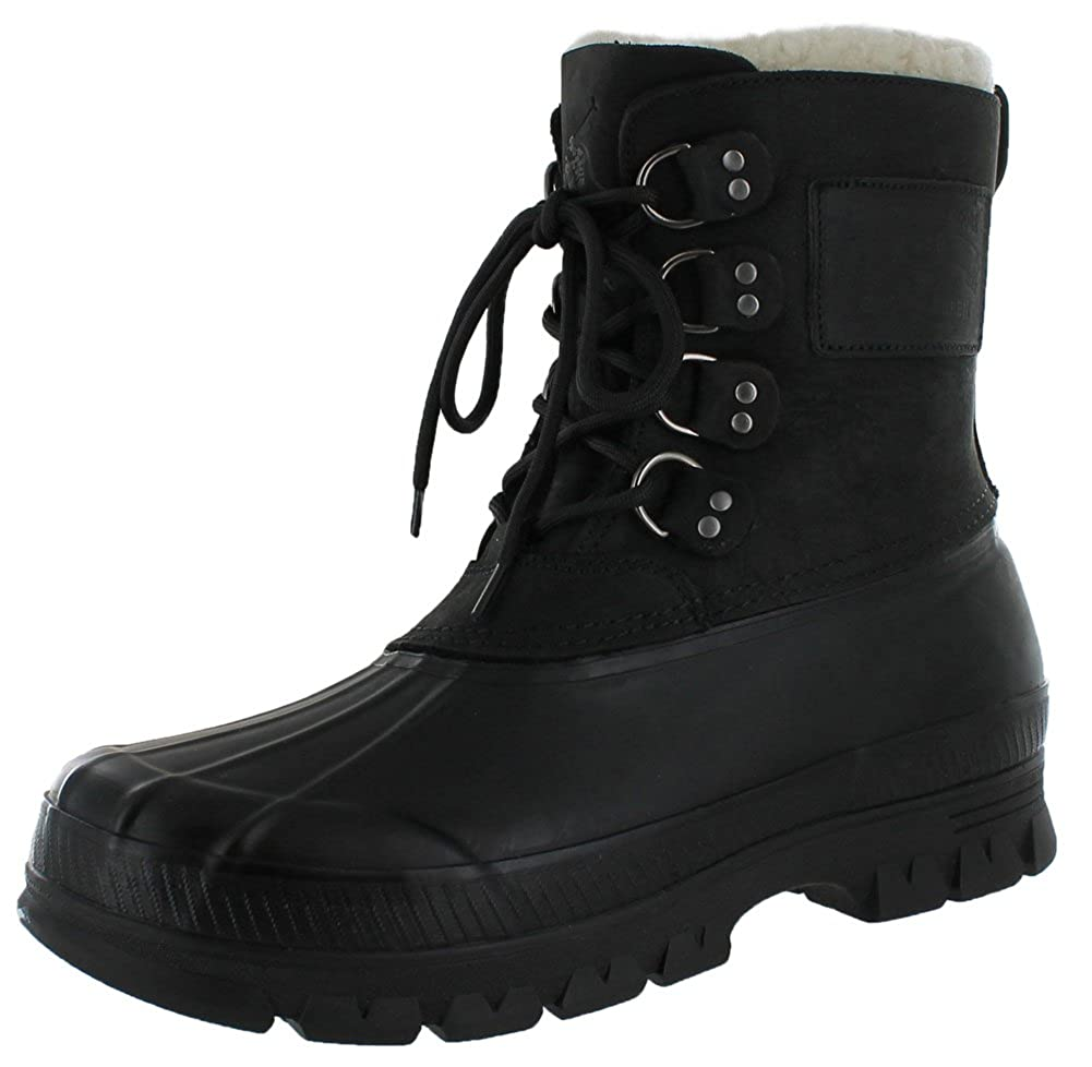 Amazon.com | Polo Ralph Lauren Landen Men\u0026#39;s Shearling Duck Boots Black Size 8 | Snow Boots