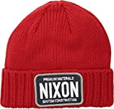 Nixon  Men's Trucker Beanie Red One Size