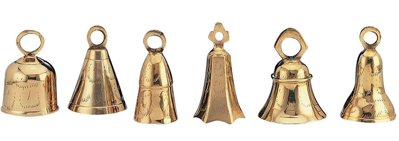 Six Assorted 4'' Brass Bells-BL39