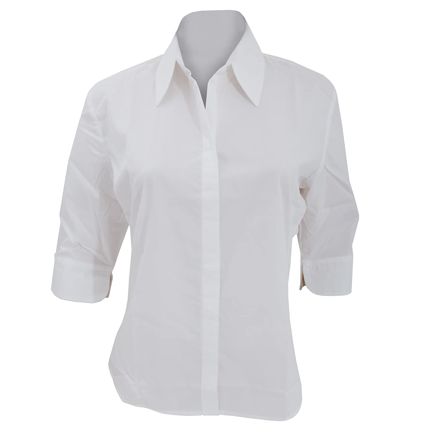 Kustom Kit Ladies Continental 3/4 Length Sleeve Blouse (14 US) (White) UTBC628_13