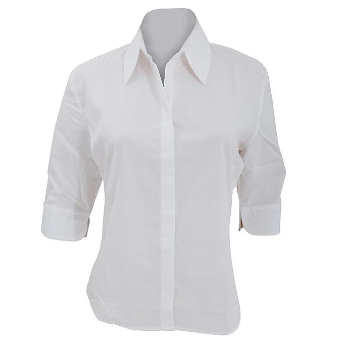 Kustom Kit- Camisa de manga tres cuartos Continental para mujer (36/Blanco)