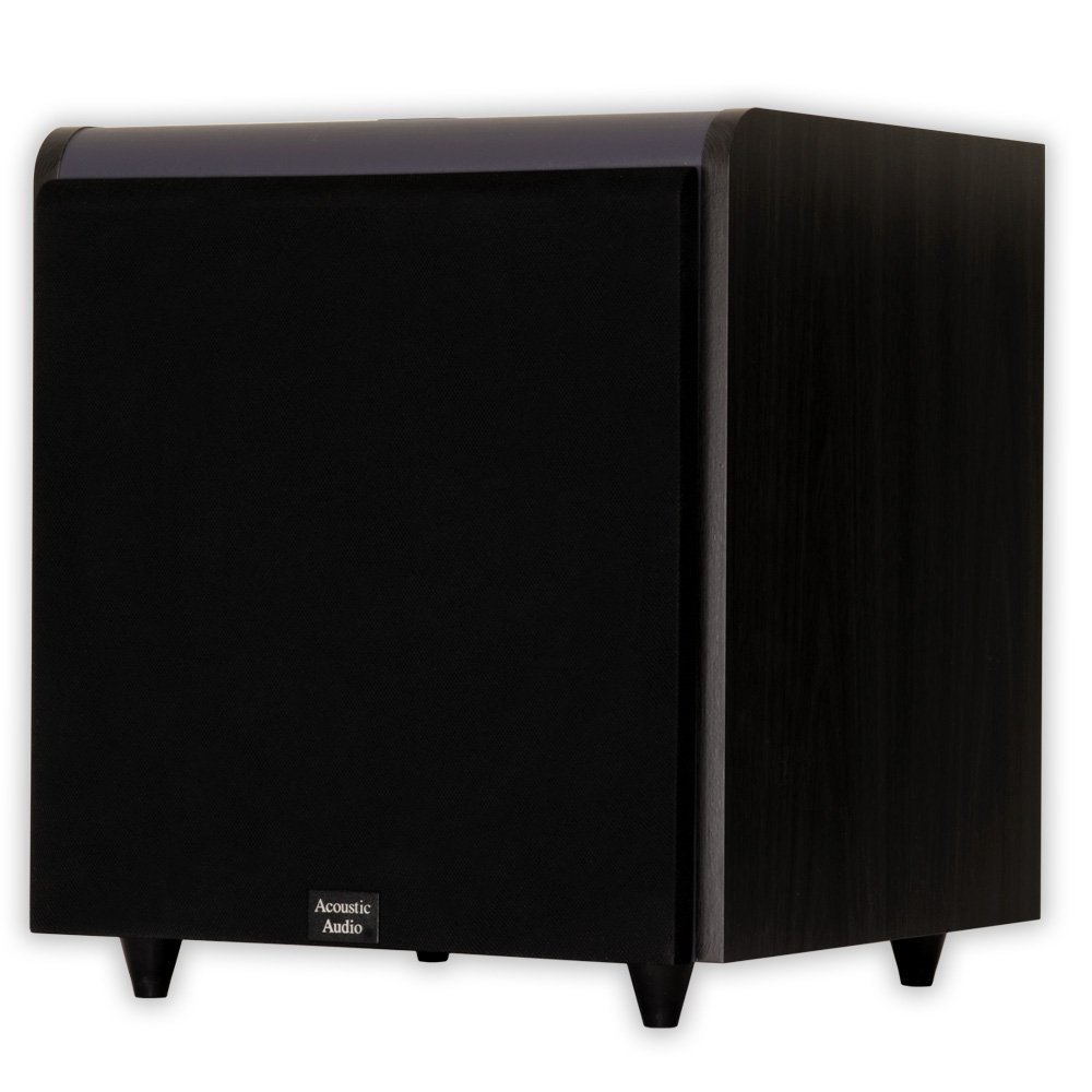 Acoustic Audio HDSUB12-Black Home Theater Powered 12'' Subwoofer Black Front Firing Sub
