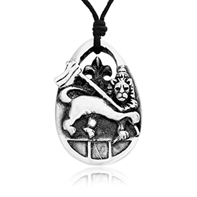 Llords Jewellery Rasta Rastafarian King Lion Necklace Pendant, Fine Pewter Jewelry