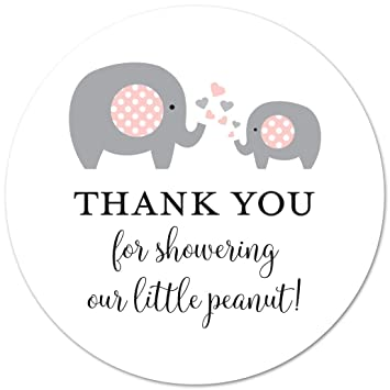 Amazon 40 Cnt Pink Elephant Thank You Stickers Little Peanut