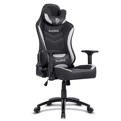 Super Easysmx Big And Tall Gaming Chair Racing Office Computer Game Chair Ergonomic Backrest And Seat Height Adjustment Recliner Swivel Rocker With Headrest Inzonedesignstudio Interior Chair Design Inzonedesignstudiocom