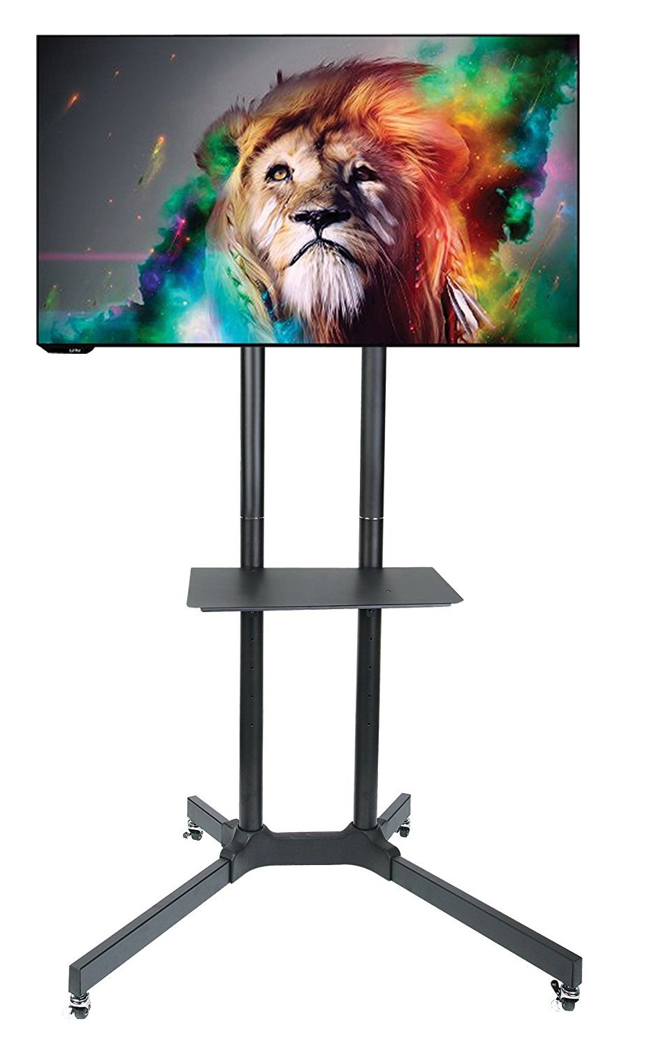 Halter Rolling TV Stand Trolley Cart and Mount for 30-65'' Vesa Mount LED/LCD TV & Monitors with Adjustable Shelf - Sturdy and Durable